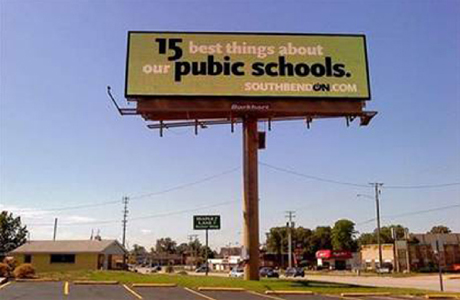 pubic schools advertising billboard