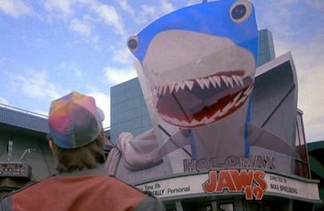 Virtual shark attack from Back to the Future Part II
