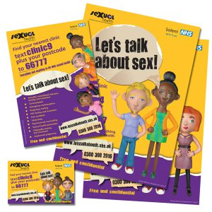 A selection of the new sexual health materials.