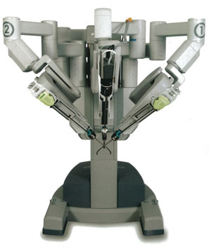 The £2.4 million Da Vinci robot