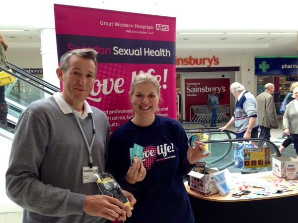 As well as Swindon Pride, the sexual health team had a stand at a local shopping centre