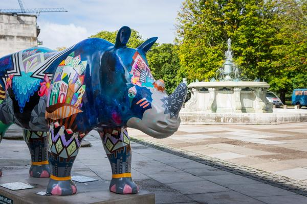 The herd of rhino sculptures across Southampton organised by Marwell Wildlife in 2013 was seen by over 250,000 people.