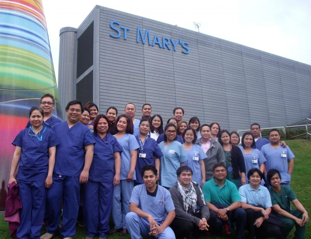 Filipino staff employed by Isle of Wight NHS Trust