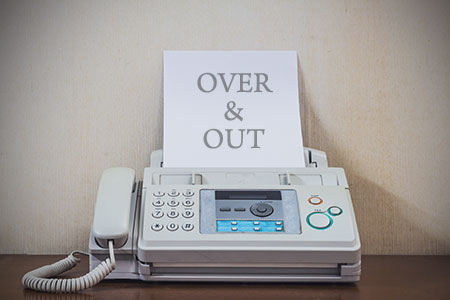 Farewell to our fax machine