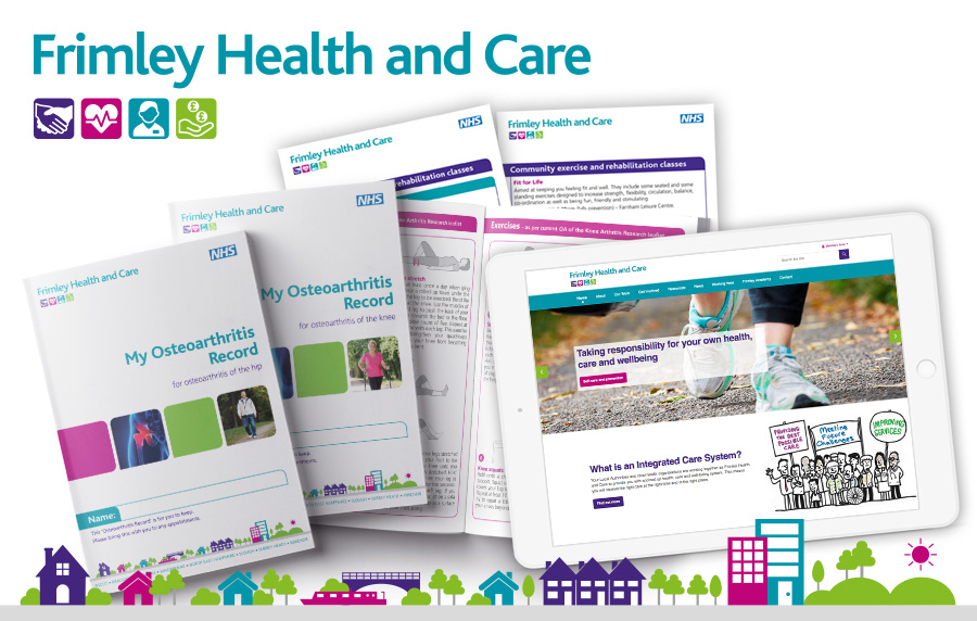 Frimley Health and Care branding